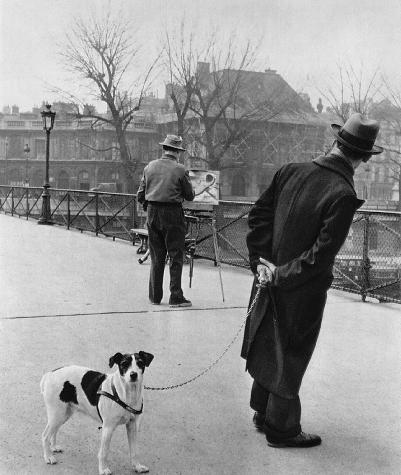 Fox terrier on the Pont des Arts (1953)